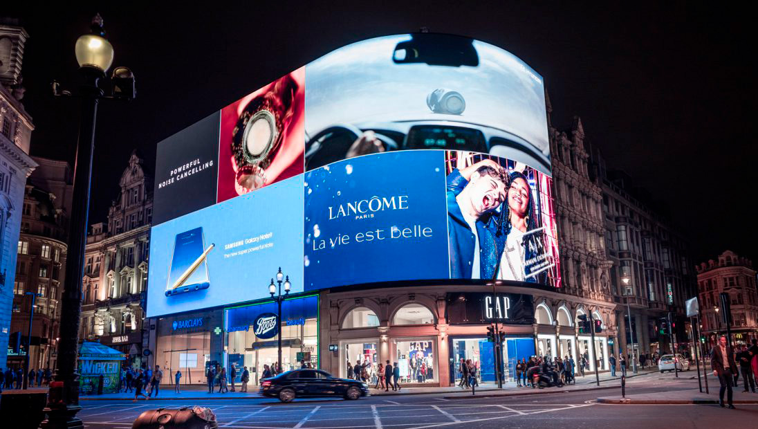 Piccadilly Lights at night