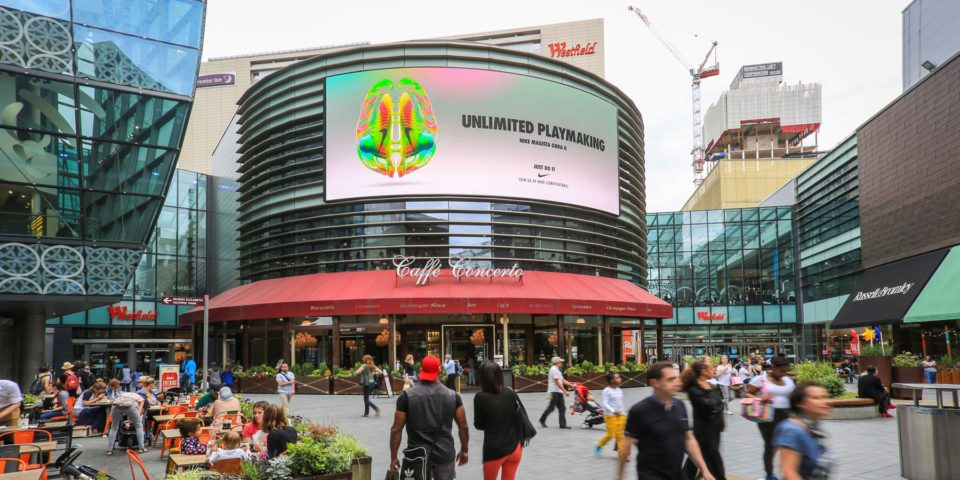 Four Dial Billboard at Westfield Stratford City