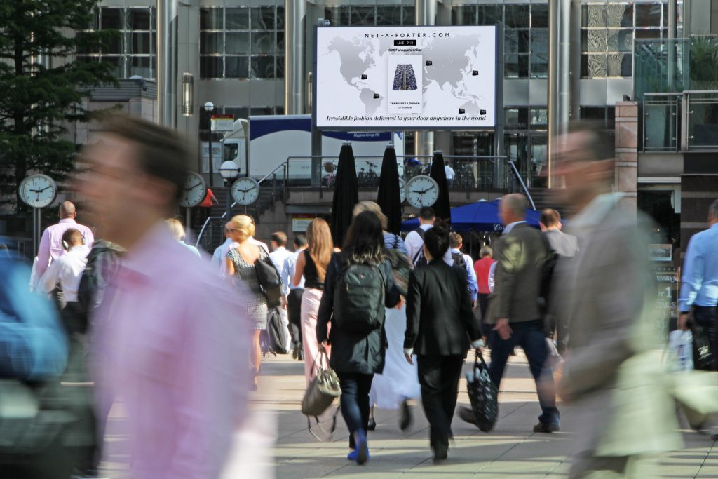 A street view of the Net-A-Porter campaign